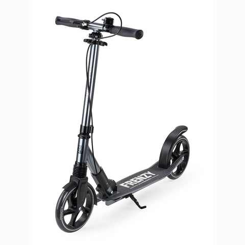 Frenzy Scooters 205mm Dual Brake Recreational Scooter, Titanium