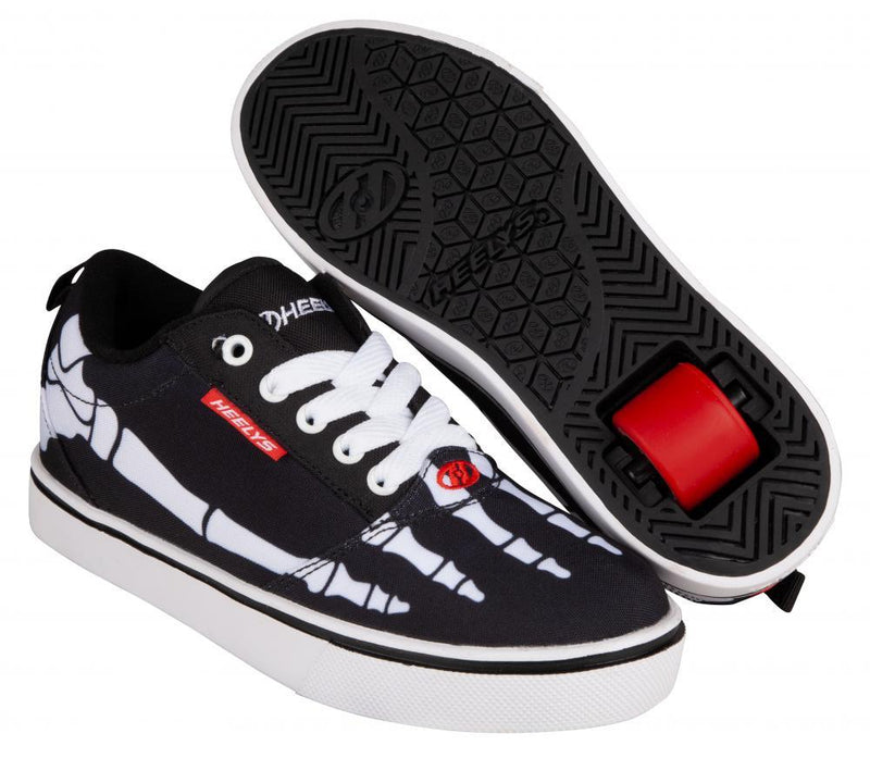 Heelys Pro 20 Prints, Black/White/Red/Skeleton Skates Heelys