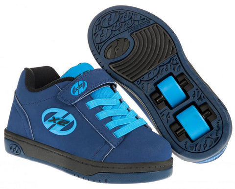 Heelys X2 Dual Up Heelys, Navy/Light Blue