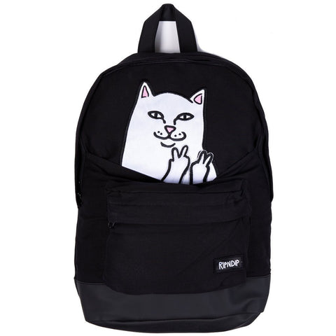 RIPNDIP Lord Nermal Corduroy Backpack, Black