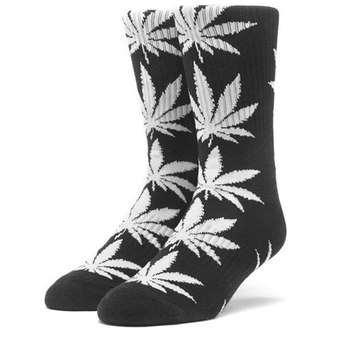 HUF Plantlife Leaf Weed Socks, Black/White