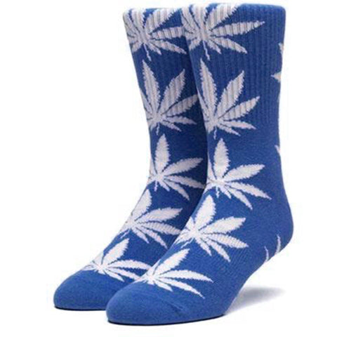 HUF Plantlife Leaf Weed Socks, Blue/Grey