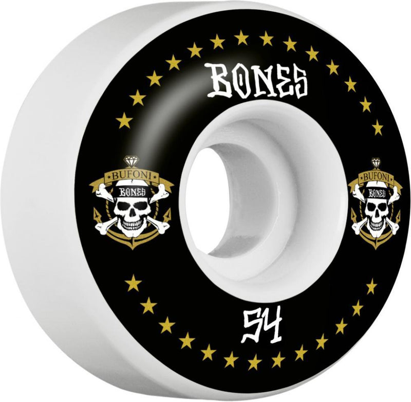 Bones Skateboard Wheels 54mm Wheels, STF Bufoni Live 2 Ride V1 Skateboard Wheels Bones