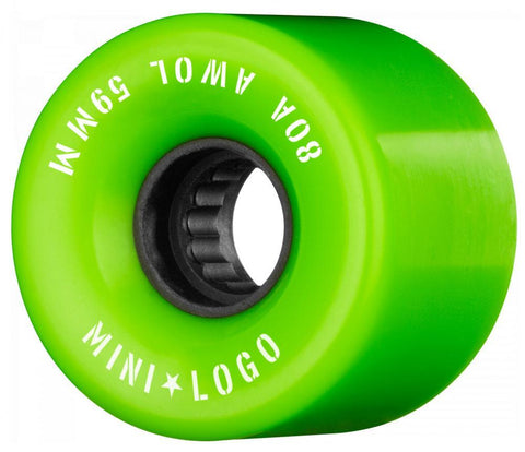 Mini Logo Cruiser / Penny Board Wheels 4 Pack - Green 59mm