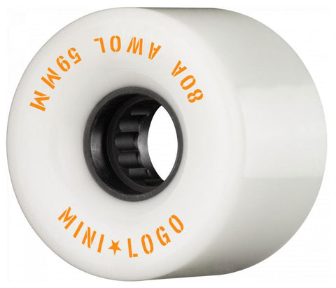 Mini Logo Cruiser / Penny Board Wheels 4 Pack - White 59mm