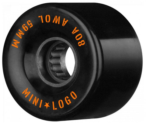 Mini Logo Cruiser / Penny Board Wheels 4 Pack - Black 59mm