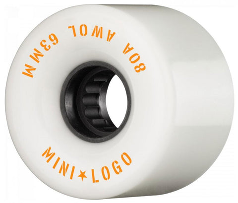 Mini Logo Cruiser / Penny Board Wheels 4 Pack - White 63mm