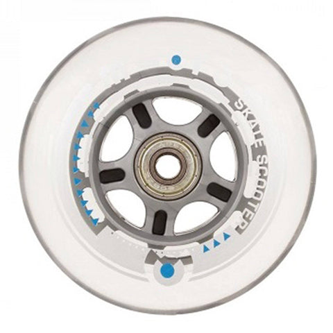 Micro Scooters Nylon 100mm Stunt Scooter Wheel, Clear/Grey