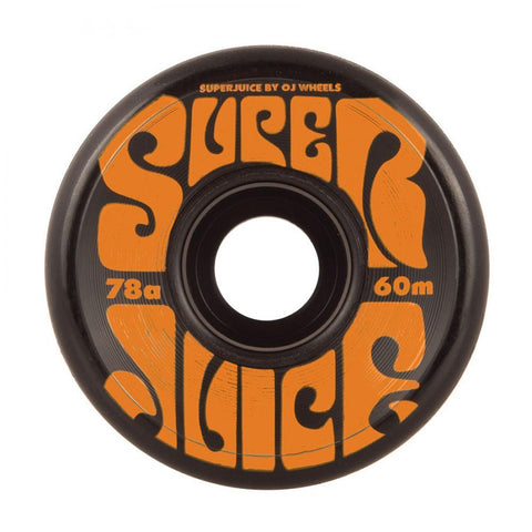 OJ Soft Super Juice 60mm Skateboard Wheels 78a, Black