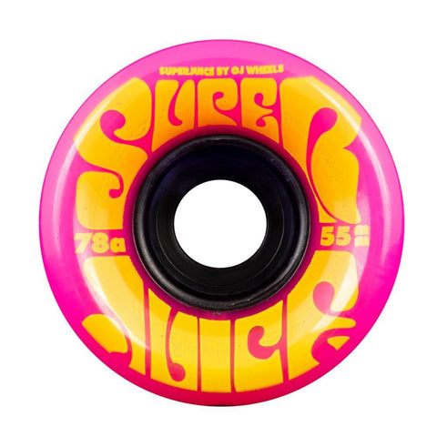 OJ Soft Mini Super Juice 55mm Skateboard Wheels 78a, Pink