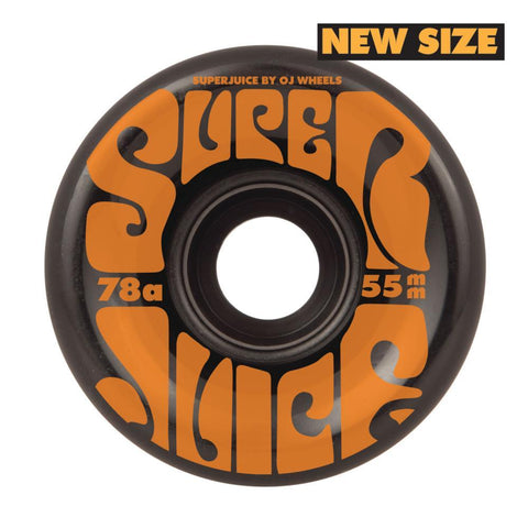 OJ Soft Mini Super Juice 55mm Skateboard Wheels 78a, Black