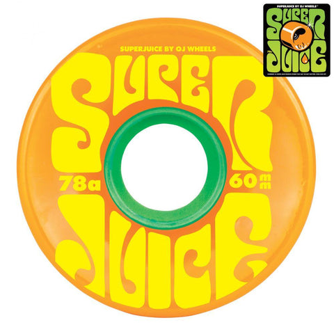 OJ Soft Super Juice 60mm Skateboard Wheels 78a, Citrus