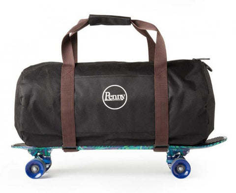 Penny Skateboards Backpack Duffel Bag, Black/Brown