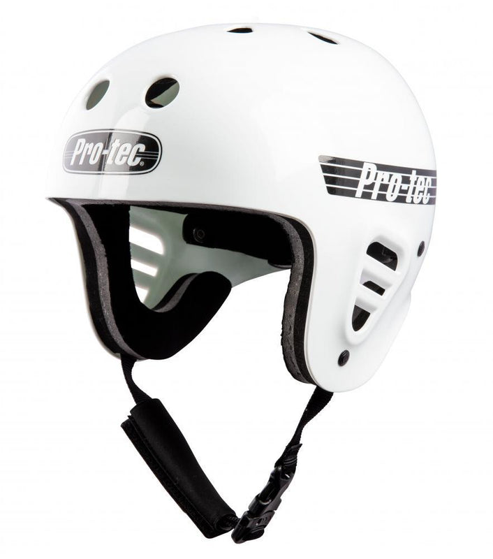 Pro-Tec Full Cut Water Helmet, Gloss White Protection Pro Tec