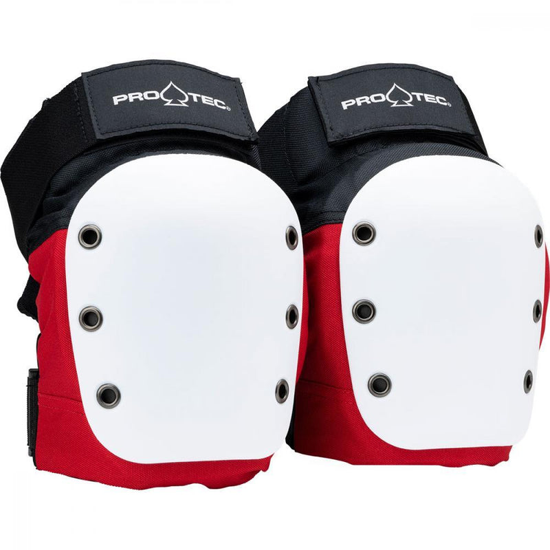Pro-Tec Street Knee Pads, Black/Red Protection Pro Tec