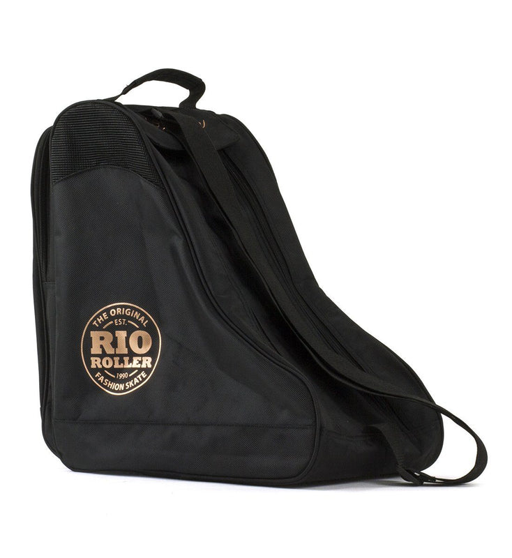 Rio Roller Rose Gold Ice & Quad Skate Bag, Black Backpack Rio Roller