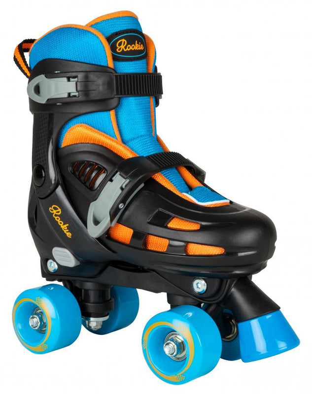 Rookie Adjustable Skate Duo Junior - Blue/Orange Quad Roller Skates Rookie