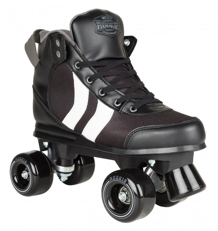 Rookie Rollerskates Deluxe - Black/White/Grey Quad Roller Skates Rookie