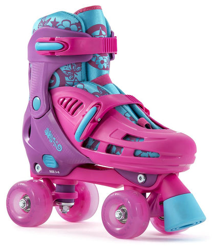 SFR Hurricane Light Up Adjustable Quad Roller Skates - Pink