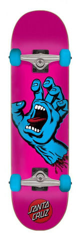 "Santa Cruz Skateboards Screaming Hand Mini Complete Skateboard 6.75"" Pink"