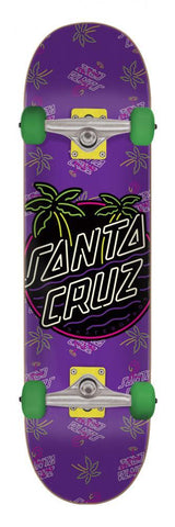 "Santa Cruz Skateboards Glow Dot Complete Skateboard 7.25"" Purple"