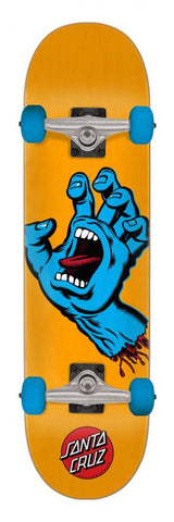 "Santa Cruz Skateboards Screaming Hand Complete Skateboard 7.5"" Orange"