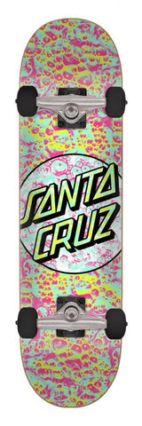 "Santa Cruz Skateboards Foam Dot Complete Skateboard 7.5"" Multi"