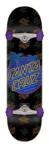 "Santa Cruz Skateboards Glow Dot Complete Skateboard 7.8"" Palm Tree"