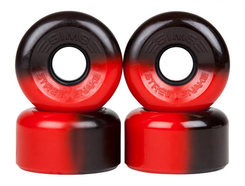 Sims Quad Skate Wheels Street Snakes 62mm/78a - Black/Red