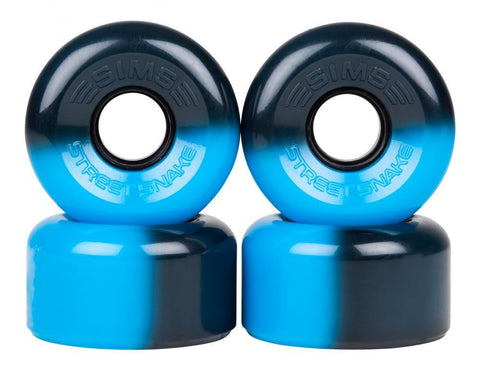 Sims Quad Skate Wheels Street Snakes 62mm/78a - Black/Blue