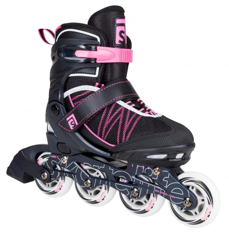 Skatelife Inline Skates Lava Adjustable - Pink/Black