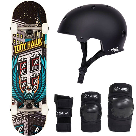 Tony Hawk 180 Skateboard Beginner Starter Pack Bundle