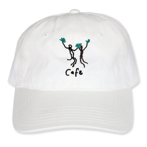 Unity Embroidered 6 Panel Cafe Cap, White