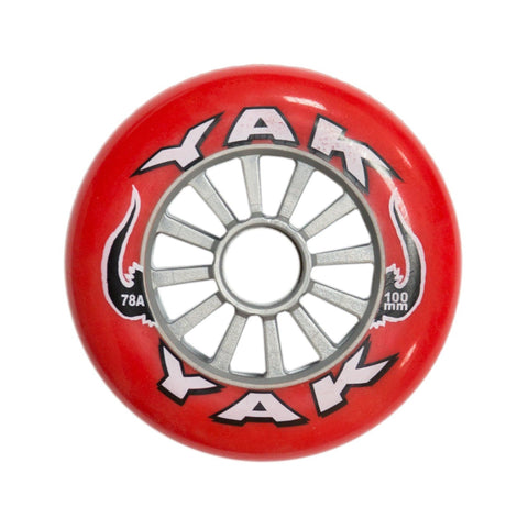 Yak Classic Plastic Stunt Scooter Wheel - 100mm/78A - Red/Silver
