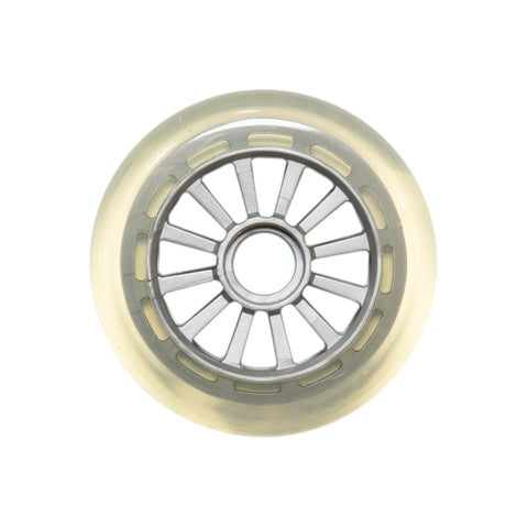Yak Scooters Low Profile Spoked 100MM Scooter Wheel clear/Silver
