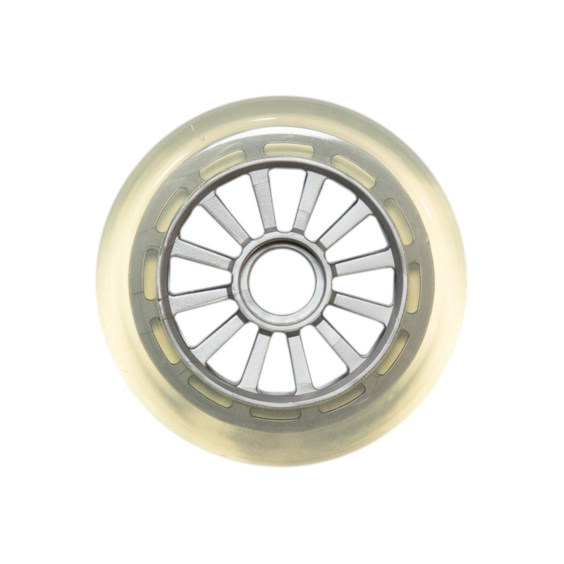 Yak Scooters Low Profile Spoked 100MM Scooter Wheel clear/Silver Scooter Wheels yak