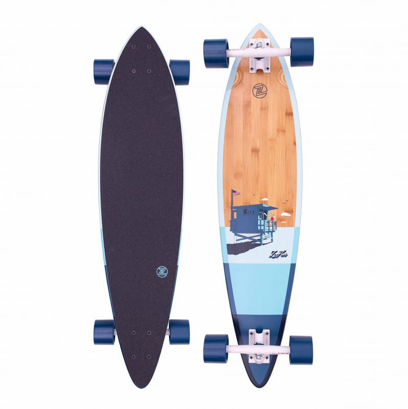 "Z-Flex Surfskate Longboards Bamboo Pintail Complete Skateboard 38"", Blue Complete Skateboards Z-Flex"