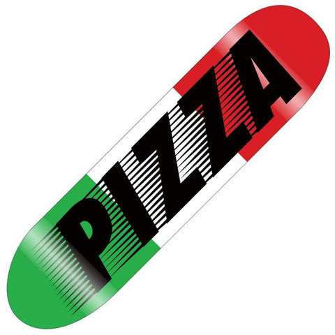 Pizza Skateboard Express Deck 8.375, Red/White/Green