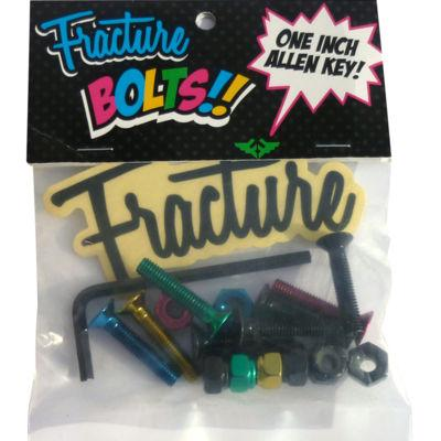 Fracture Skateboards, Anodised Coloured Bolts Skateboard Fracture