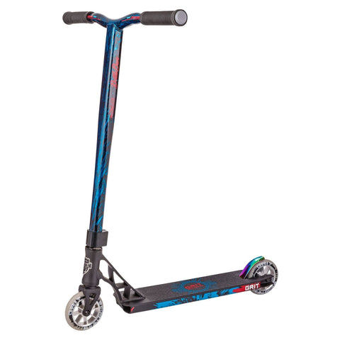 Grit Scooters 2018 Elite Complete Stunt Scooter, Satin Black/Blue