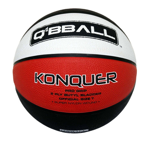 Q4 Konquer Basketball Size 7 - Red/White/Black