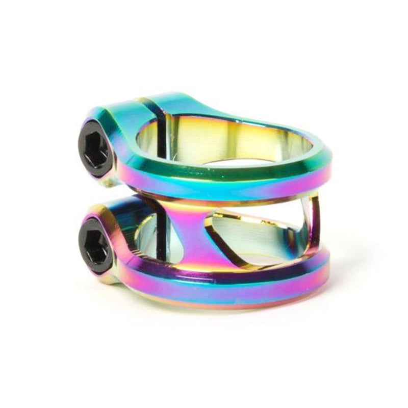 Ethic DTC Slyphe Stunt Scooter Double Clamp, Oil Slick Stunt Scooter Ethic DTC