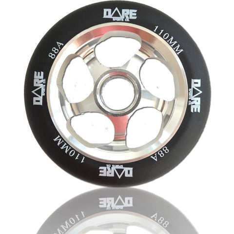 Dare Sports Swift Scooter Wheel 110mm, Black/Silver