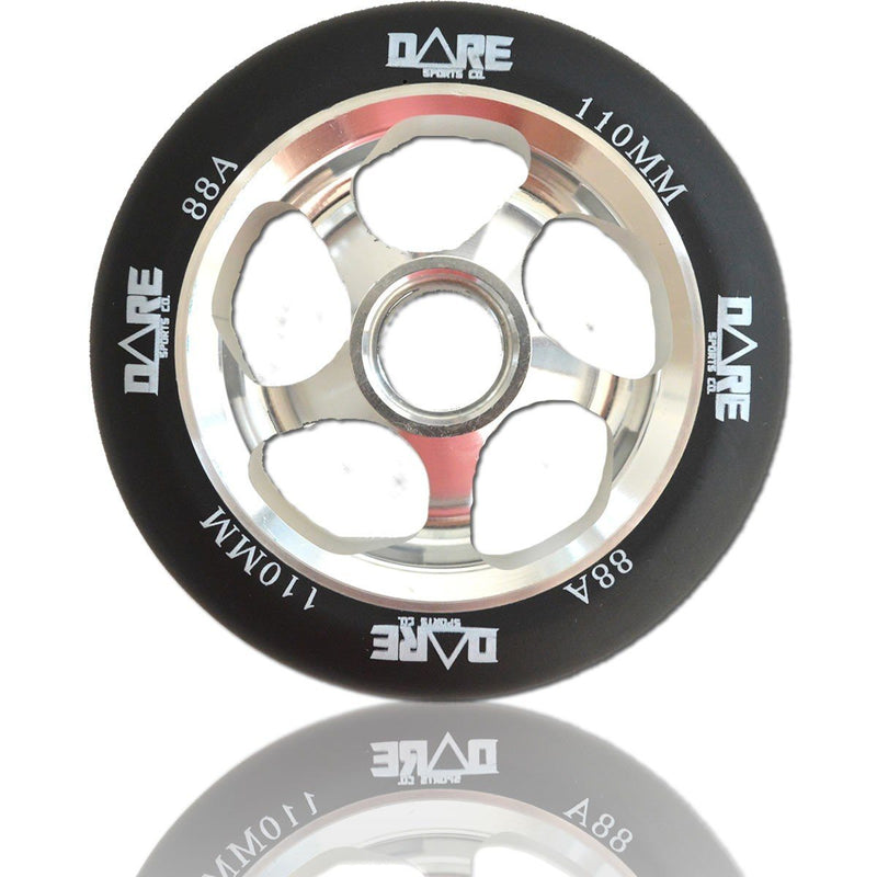 Dare Sports Swift Scooter Wheel 110mm, Black/Silver Stunt Scooter Dare