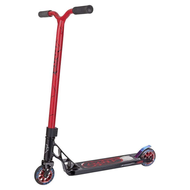 Grit Scooters 2018 Fluxx Complete Stunt Scooter, Satin Black/Red Stunt Scooter Grit