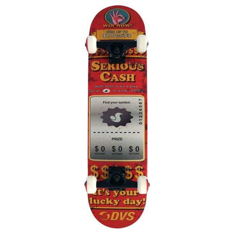 DVS Serious Cash Skateboard 7.75 Red