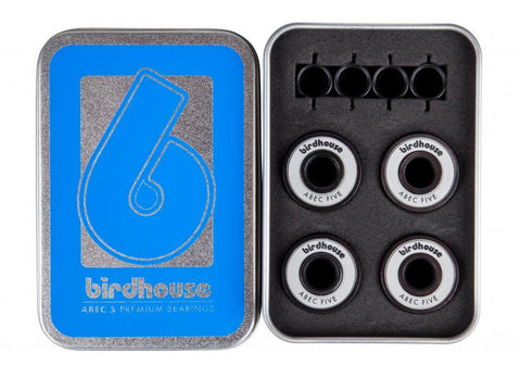 Birdhouse Skateboards, ABEC 5 Bearings - White