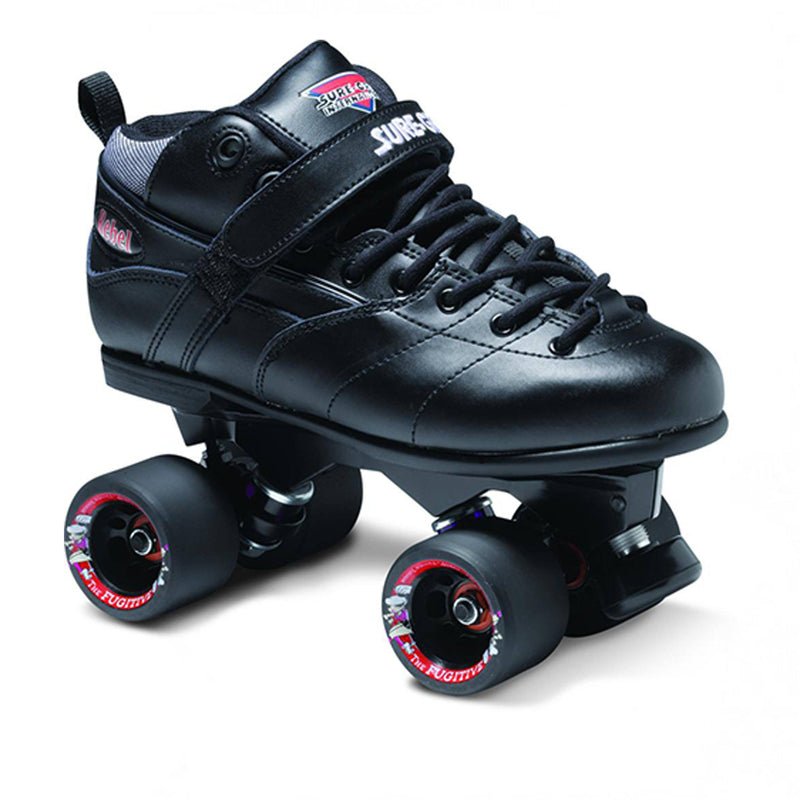 Sure grip Roller Derby Quad Skates Avenger Rebel, Black Quad Skates SureGrip UK5/EU38/US6