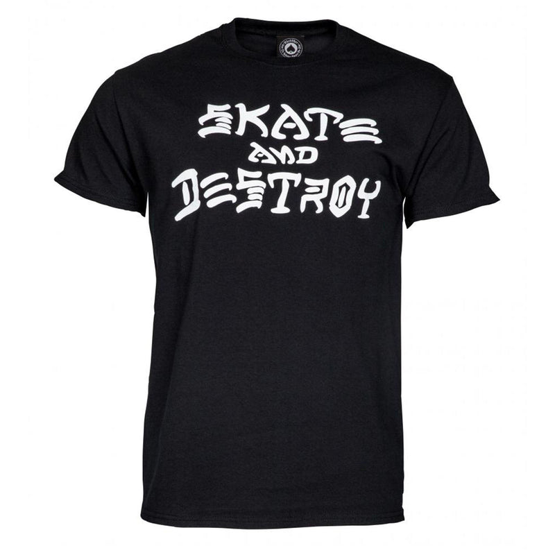 Thrasher Skateboard Magazine Skate and Destroy T-Shirt, Black Clothing Thrasher Large