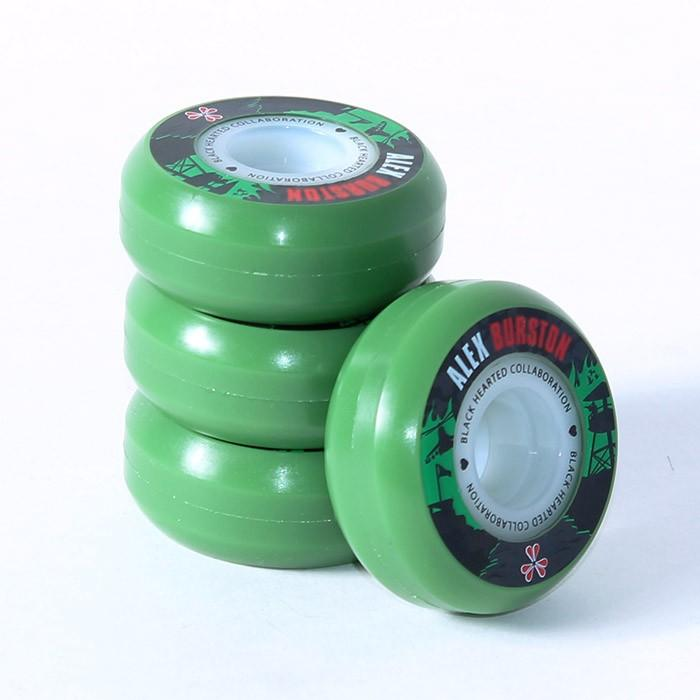 BHC Wheels Alex Burston Signature Inline Skate Wheels 60mm 4 Pack, Green Skate Wheels BHC